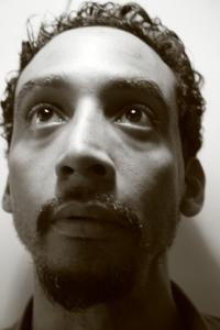 The author, 2009, Harlem NYC [photo by Nina Fleck]