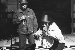 Chuck D & Flavor Flav of Public Enemy [Al Pereira/Michael Ochs Archives/Getty Images]